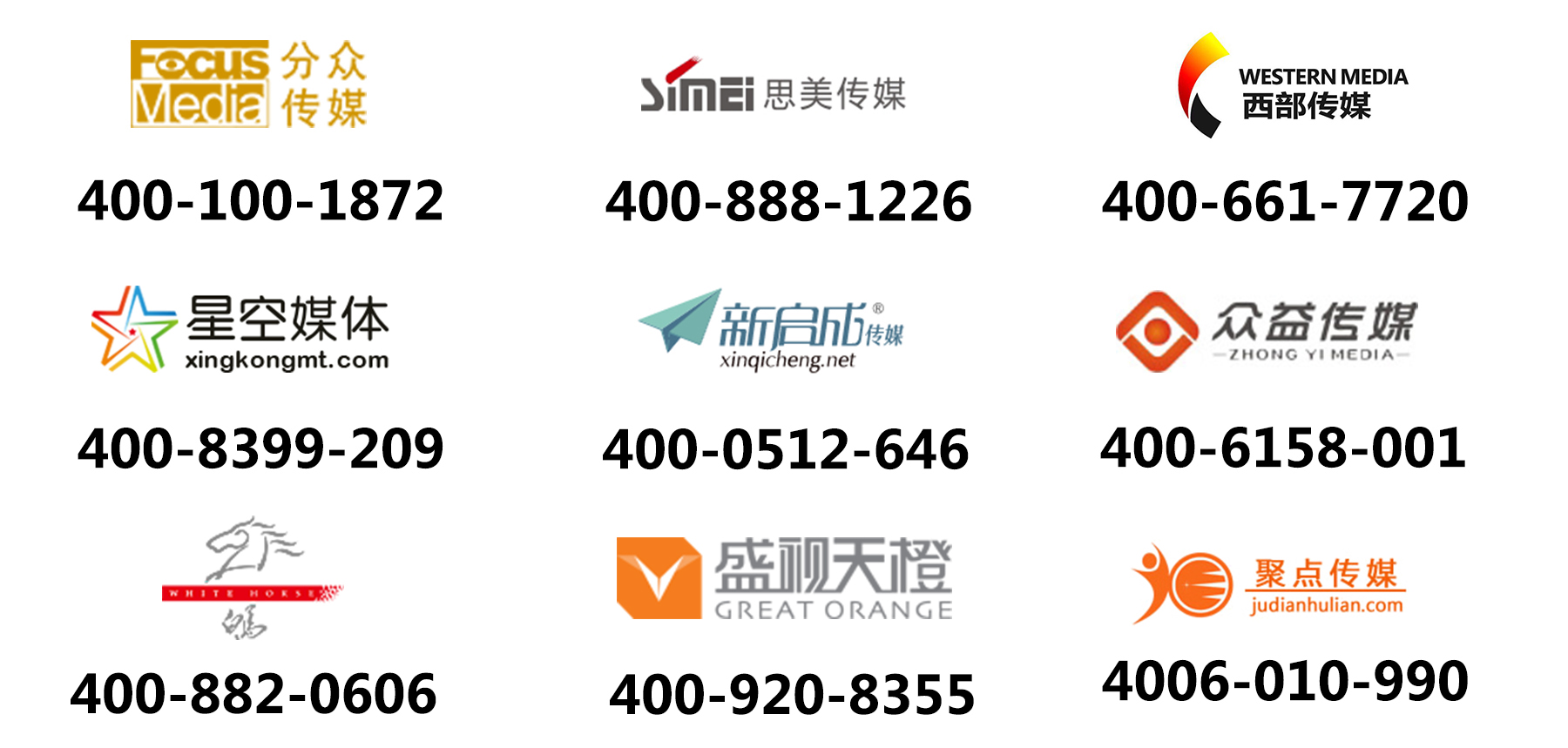 广告传媒行业应用400电话案例
